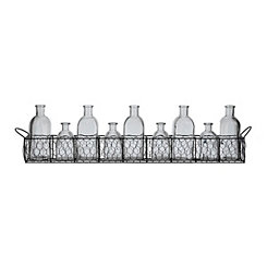 Staggered Chicken Wire Bottle Vase Runner Set