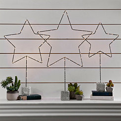 Pre-Lit Standing Star Statue, 27 in.