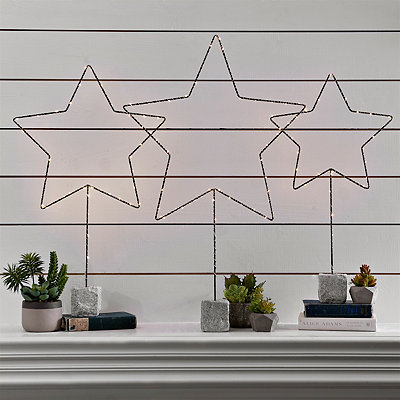 Pre-Lit Standing Star Statue, 37 in.