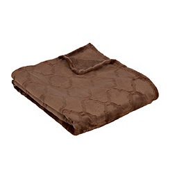 Chocolate Luxury Plush Quatrefoil Throw Blanket