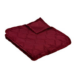 Red Luxury Plush Quatrefoil Throw Blanket
