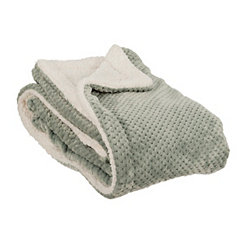 Spa Blue Sherpa Blanket