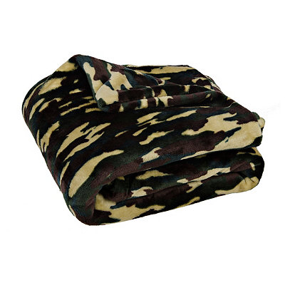 Camouflage Plush Throw Blanket