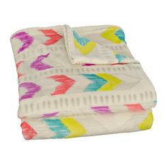 Bright Arrows Plush Throw Blanket