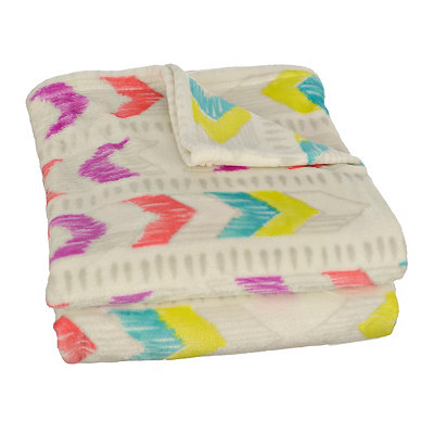 Bright Arrows Plush Throw Blanket