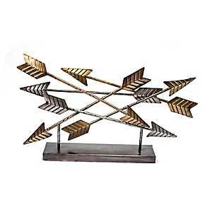 Metal Arrow Tabletop Sculpture
