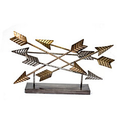 Metal Arrow Tabletop Sculpture