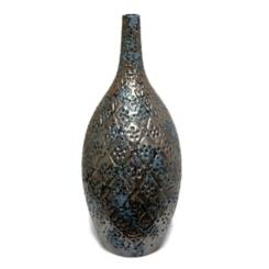 Blue Verdigris Ceramic Vase