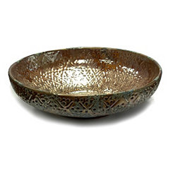 Decorative Verdigris Ceramic Bowl