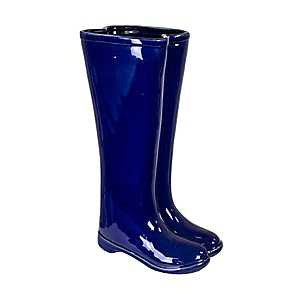 Blue Boots Ceramic Umbrella Stand