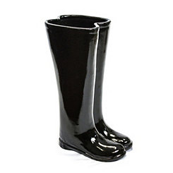 Black Boots Ceramic Umbrella Stand