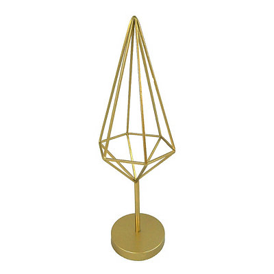 Geometric Gold Cage Finial