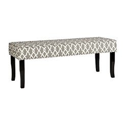 Gray Geometric Heidi Bench