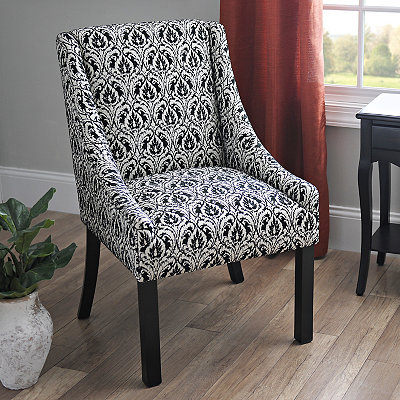Ebony Saldona Patterned Accent Chair