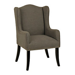 Winston Gray Linen Accent Chair