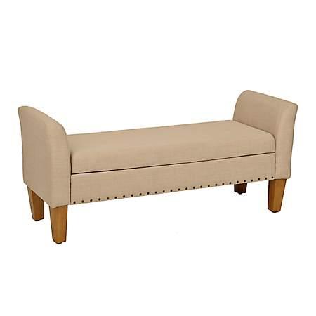 Awesome Emily Tan Linen Storage Bench Emily Tan Linen Storage Bench Pabps2019 Chair Design Images Pabps2019Com