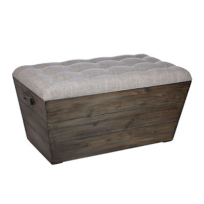 Slatted Wood Crate Bench