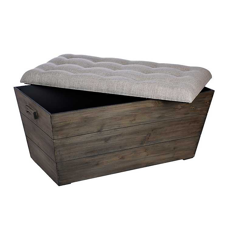 Slatted wood crate bench kirklands for Wood crate bench