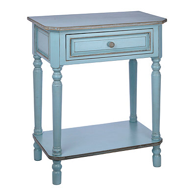 Blue Christina Distressed Side Table
