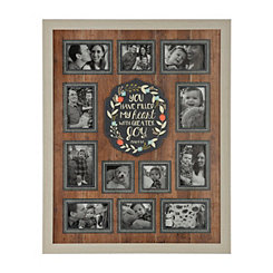 Joyous Slatted Wood Collage Frame