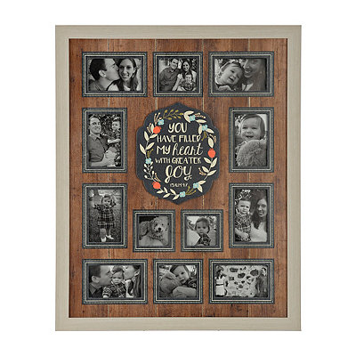 Joyeous Slatted Wood Collage Frame