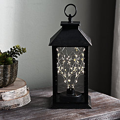 Sparklin Lights Pre-Lit Bronze Tabletop Lantern