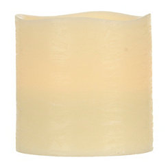 Ivory Wide LED Candle, 6 in.