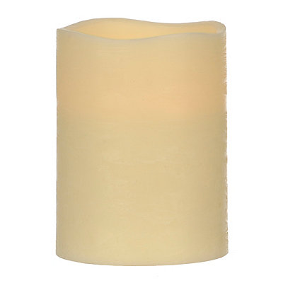 Ivory LED Candle, 8 in.