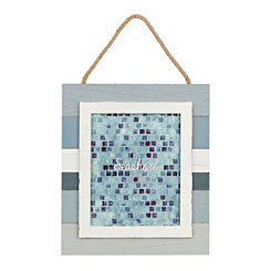 Slatted Blue Striped Picture Frame, 8x10