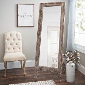 Distressed Aspen Cheval Full Length Floor Mirror