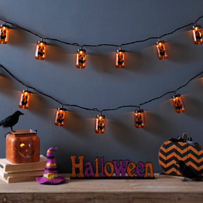 Black Jack O' Lantern String Lights