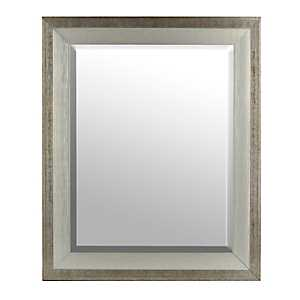 Silver Wood Mirror, 30x36 in.