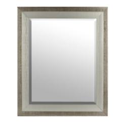 Silver Wood Mirror, 30x36 in.
