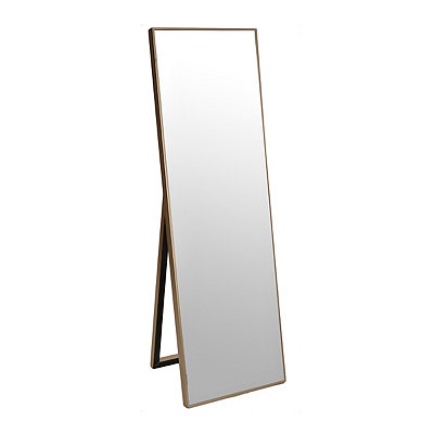 Silver Cheval Metal Full Length Floor Mirror