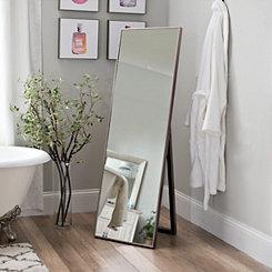 Silver Cheval Metal Full Length Floor Mirror