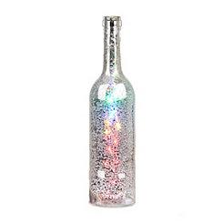 Pre-Lit Multicolor Mercury Glass Bottle