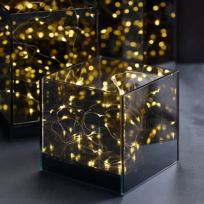 Small Pre-Lit Infinity Decorative Box