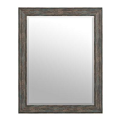 Distressed Black Mirror, 37.5x47.5 in.