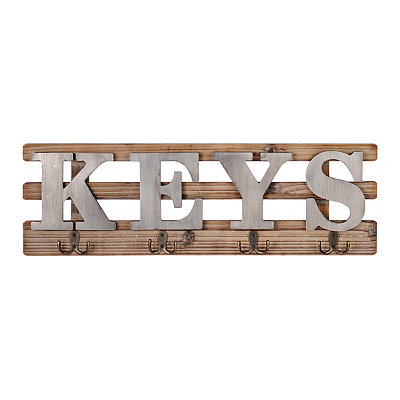 Key Hooks Wall Plaque