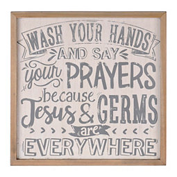 Jesus & Germs Wall Plaque