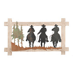 Cowboys on a Ride Wall Plaque