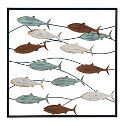 School of Fish Metal Wall Plaque
