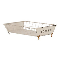 Vintage Tray Towel Holder