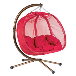 Red Hanging Pumpkin Loveseat with Cushion