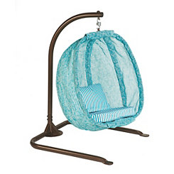 Cloud Blue Junior Hanging Egg Chair with Cushions