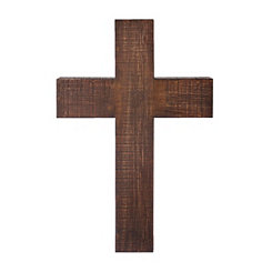 Large Wooden Cross Wall Plaque