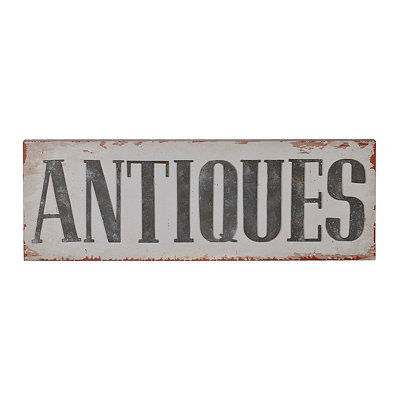 Distressed Antiques Wall Plaque
