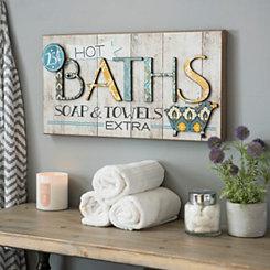 Hot Bath Patchwork Wall Plaque