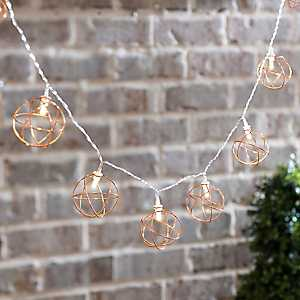 Metallic Orb String Lights