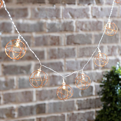 Metallic Orb String Lights